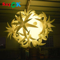 inflatable ball with led flower light for Party/event/club hot air balloon wedding decorations