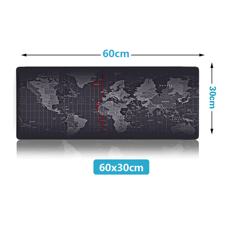 ZUOYA Hot Sell Extra Large Mouse Pad Old World Map Gaming Mousepad Anti-slip Natural Rubber with Locking Edge Gaming Mouse Mat