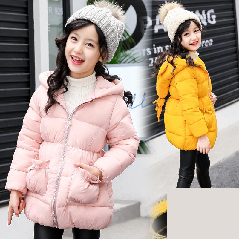 2017 New Kids Parkas Girls Cotton Down Coat Children Overcoat Winter Thick Outerwear Warmed Winter Clothing Manteau Fille Hiver