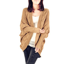 487f7736e New Fashion Women Winter Baggy Cardigan Coat Long Chunky Knitted Oversized  Sweater Casual Solid color Ladies