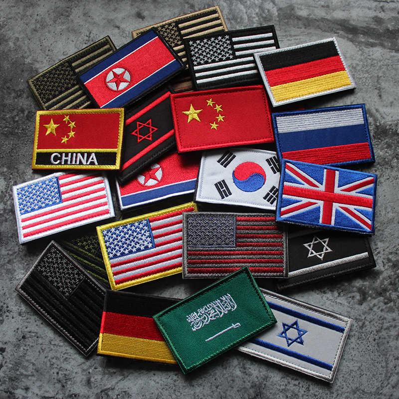 Patch Embroidered Badge Flag Germany German Armband Black Backpack Biker Bik