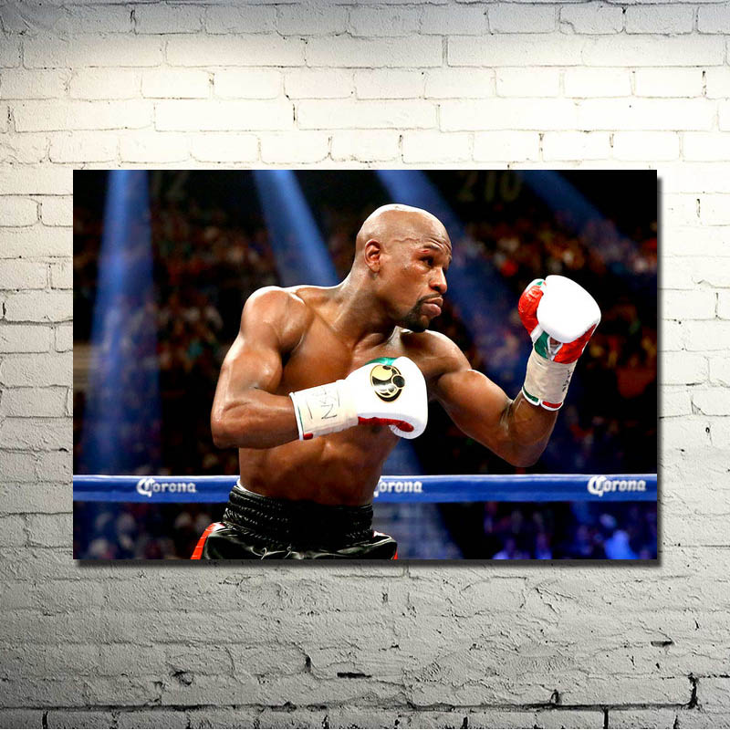 Floyd Mayweather Fighting Super Boxer Art Silk Poster 13x20 24x36Inch Boxing Sport Pictures For Living Room Decor 004