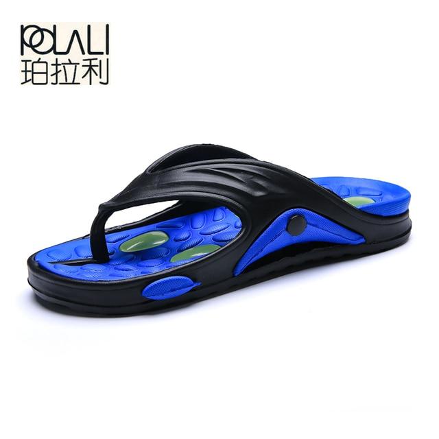 37599d187c4e POLALI Mens Flip Flops Summer Men s New Style Rubber Soft Shoes Outdoor Beach  Men s Slippers Massage