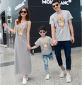 Summer family look clothes mother dress father daughter son short sleeve t-shirts family matching outfit men women baby tops tee