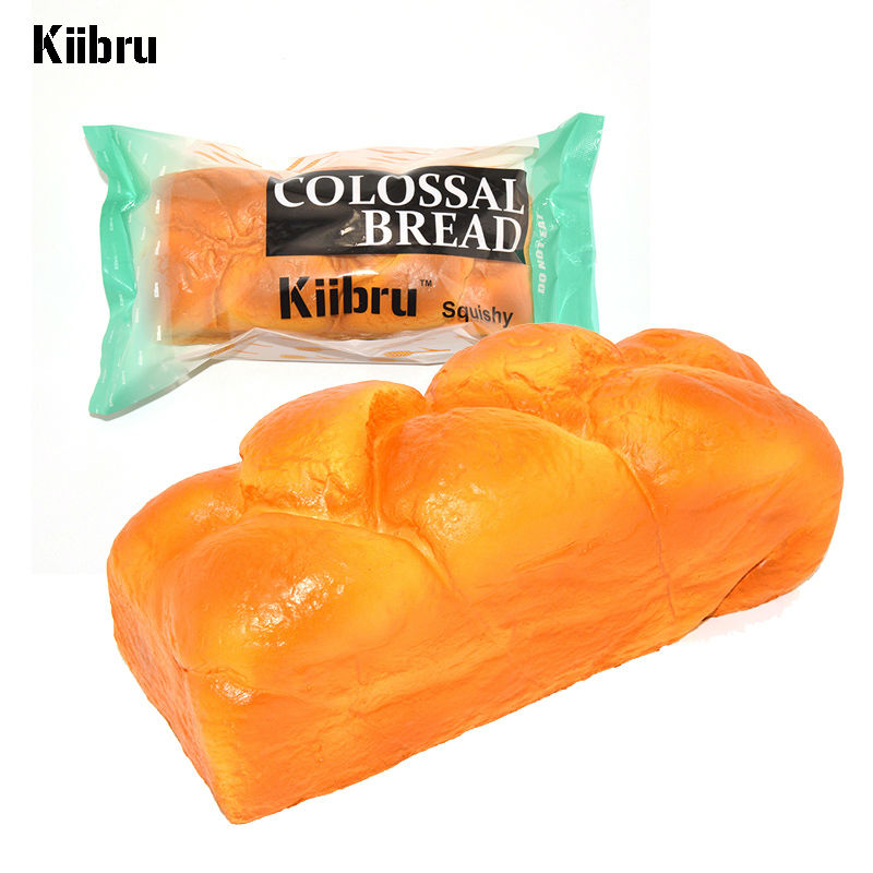 10 PCS Kiibru Upscale Colossal English Bread Squishy Super Slow Rising Bakery Scented 20cm Original Package