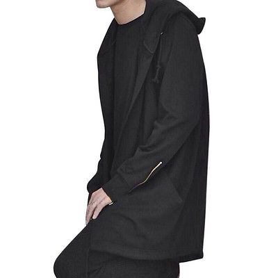 2017 Fashion Men Long Hooded Trench Cape Cloak Coat Outwear Casual Slim Fit Jacket Top Warm Gothic Punk Hoodie in Trench from Men 39 s Clothing