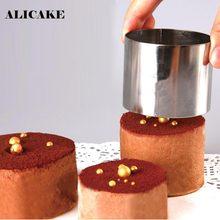 Moules à Mousse en acier inoxydable, 3 pièces/ensemble, 2.4 2.5 3 pouces, outils à gâteau, ustensiles de cuisine, anneau, moules à Fondant, support de cuisson, Dessert