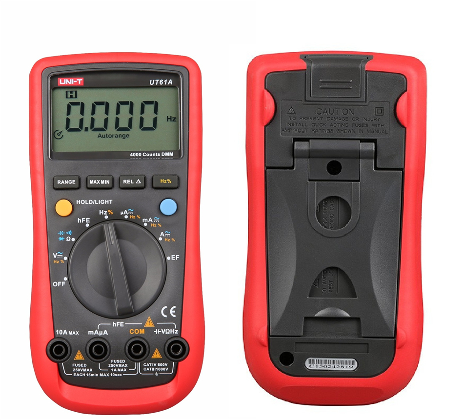 UNI-T UT61A True Rms Digital Multimeter AC/DC Voltage Current,Resistance,Capacitance with RS232C Cable ad637 precision broadband ac true rms peak voltage detection module