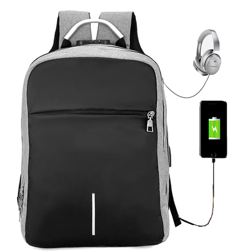 large capacity usb charging laptop backpack for men anti-theft business travel rucksack leisure college student school mochila