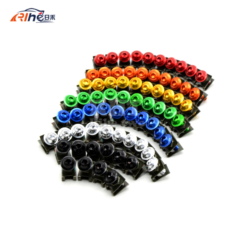 10 pieces 6mm motorcycle fairing body screws for Triumph Speed Four Triple Daytona 600 650 955i Sprint ducati monster 620  796