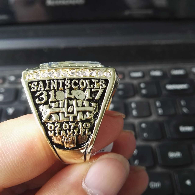 Marcatsa 2009  New Orleans Saints world championship ring alloy rings for men size 8 -13