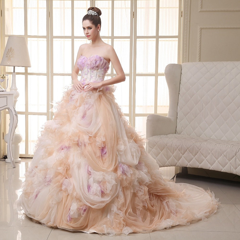 Aliexpress.com : Buy Light Pink Wedding Dress Luxury Robe de ...