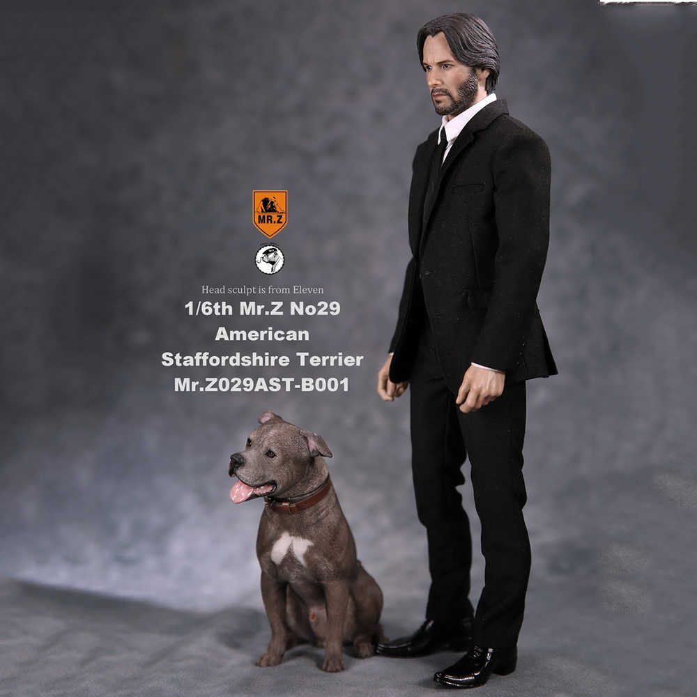 1 6 Collectible Figure Scene Accessories Mr Z Real Animal No 29 American Staffordshire Terrier Posture With Exchanged Head Aliexpress