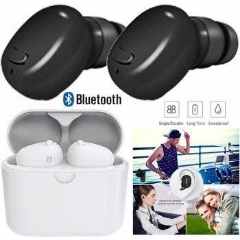Auriculares Bluetooth TWS True inalámbricos estéreo auriculares de manos libres auriculares dobles con estuche de carga para Android IOS PC PS3