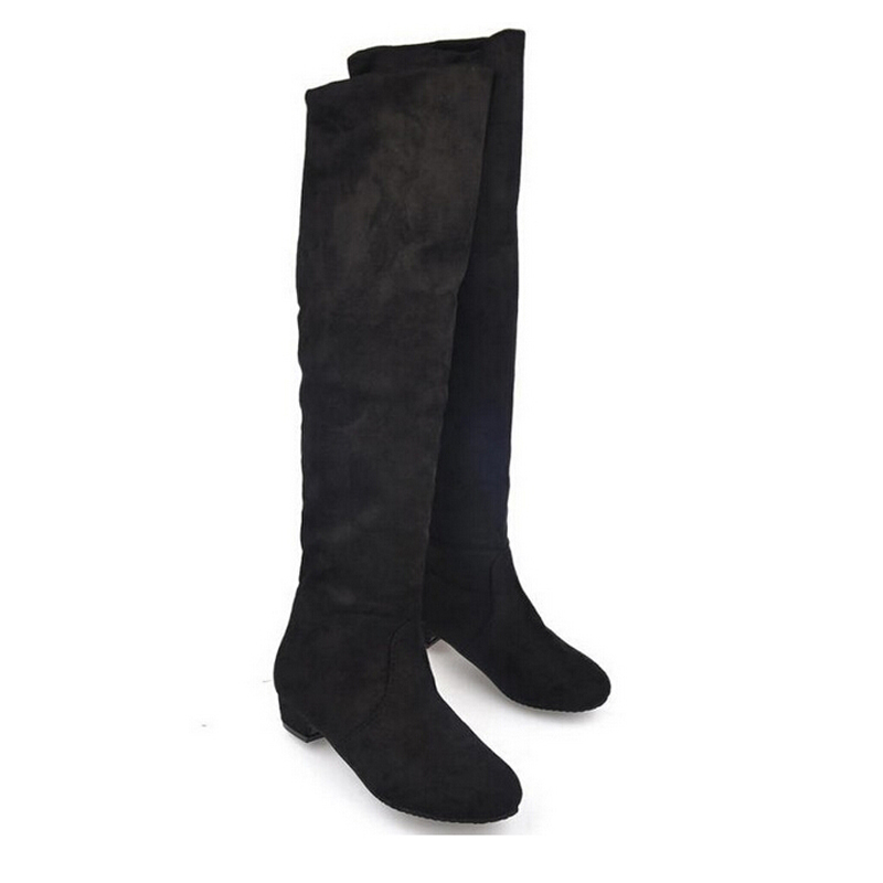 Aliexpress.com : Buy New 2014 Women Boots Flock Thigh High Boots ...