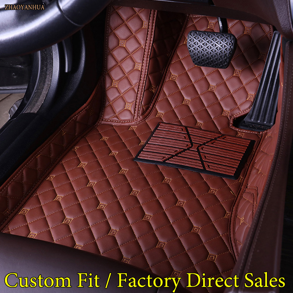 ZHAOYANHUA Car floor mats for Mercedes Benz X204 X205 GLK GLC class 200 220 250 300 320 350 43 AMG 5D car styling carpet liners