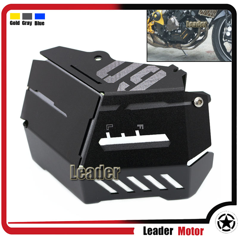 ФОТО For Yamaha MT-09 FZ-09 FJ-09 MT-09Tracer Tracer 900 2014-2016 Motorcycle Accessories Coolant Recovery Tank Shielding Cover Gray