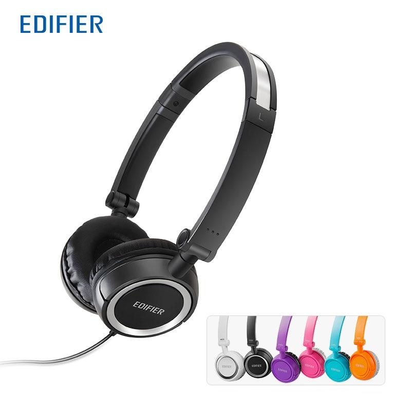 Edifier H650 Fällbara hörlurar Bulleravbrott HiFi-hörlurar Headset Med Non-Tangling Wire 40mm med 6 färger