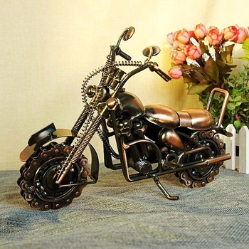 Photography Background Motorcycle Model Figurines Metal Crafts Home Decoration Ornaments Friend Gifts Home Furnishing Articles