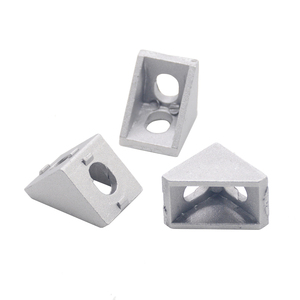 HOTSale 20pcs 2020 corner fitting angle aluminum 20 x 20 L connector bracket fastener match use 2020 industrial aluminum profile(China)
