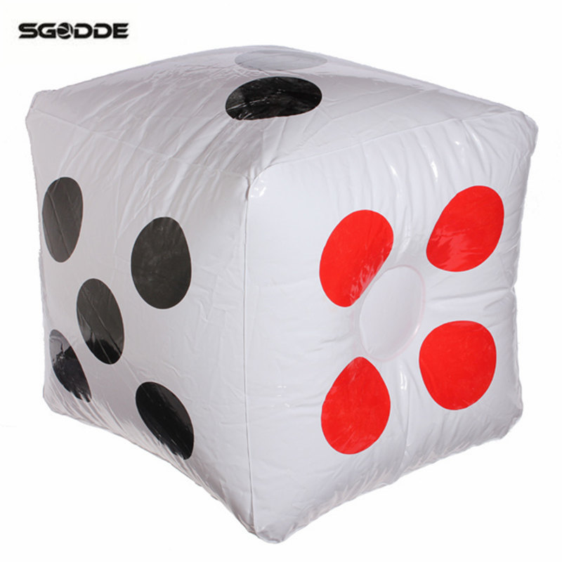 Pool Toys Beach Inflatable Dice Childrens Black And White Large Outdoor Activities Water Sports Swimming Pool Beach Accessories