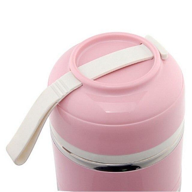 Boîte à Lunch Thermos thermique   Boîte à Bento japonaise en acier inoxydable pour la nourriture, stockage de la soupe, pique-nique Portable de Camping avec sac