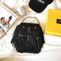 Hely Coptar 2018New Genuine Leather Women Bags Mini Handbag Autumn Winter Small Tassel Monster Cute