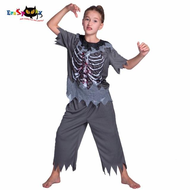 Carnaval traje de Halloween para los nios Nias Zombie traje nios