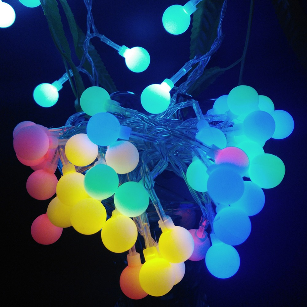 YIYNAG NEW 4M 40 LED Colorful Ball String Lights AA Battery Operated Fairy Party Wedding ...