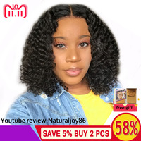 Hesperis Curly Human Hair Wig Pre Plucked With Baby Hair 130 denistity Brazilian Remy Curly Lace Front Wigs 13x6 Short Curly Wig
