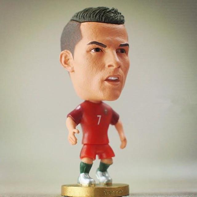 2016 Champion European Cup Series 6.5*3.5 cm Resin Soccer Star 7 C Ronaldo Doll Red Portugal