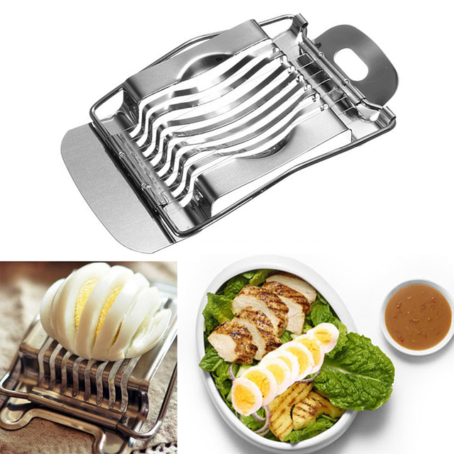 1Pcs Stainless Steel Boiled Egg Slicer Section Cutter Mushroom Tomato Cutter Kitchen Tool