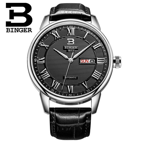 Binger Sport Watches Men Luxury Brand leather Strap Men Army Military Wristwatch Clock Male Quartz Watch Relogio Masculino jubaoli rotatable bezel male watch quartz leather strap wristwatch