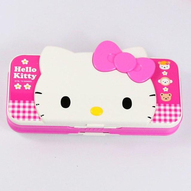 School Supplies Hello Kitty Pencil Case Pen Box Cartoon Pencilcase Kawaii Sationery For Girl 1 Piece