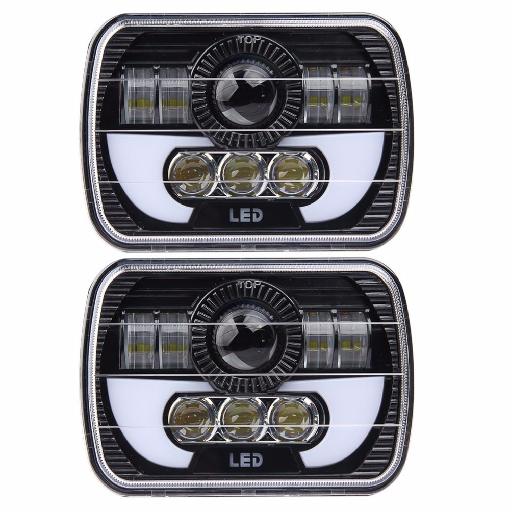 5 X 7 90W Square Truck LED Headlight Driving font b Lamps b font with Hi