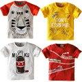 Принт с героями мультфильмов, для маленьких мальчиков, футболка с тигром для детей летний костюм для малышей; Детская одежда для мальчиков и...