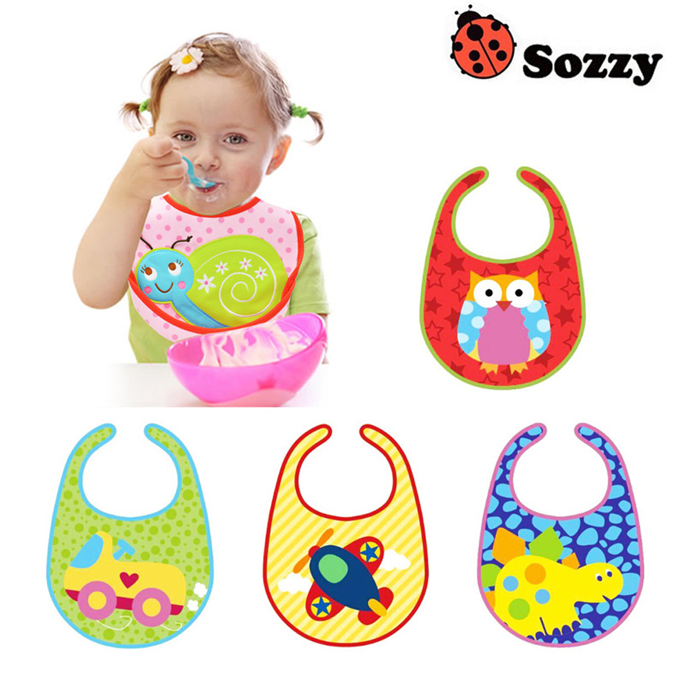 1pcs Sozzy Cute Baby Bibs Multifunction Modeling Waterproof Stereoscopic Baby Bibs High Quality