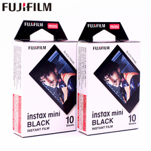 20 sheets Original Fujifilm Instax Mini Black Frame Instant Film photo paper for Instax Mini 8 7s 25 50s 90 9 SP-1 SP-2 Camera