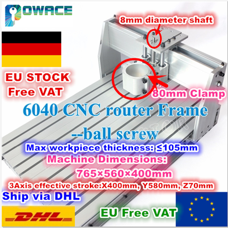 EU AU Delivery 6040 Desktop 1605 Ball Screw CNC Router Milling Machine Mechanical kit 80mm