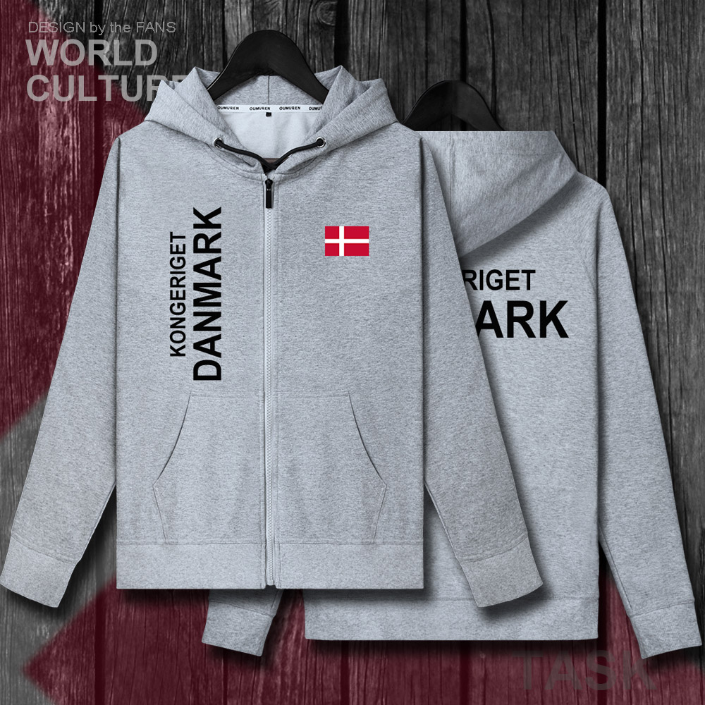 1276758dcb24fb Denmark Danish Danmark DK DNK mens zipper fleeces hoodies winter jerseys men  jackets and coat clothes