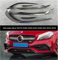 Carbon Fiber For Car Front Bumper Spoiler Lip Spoiler Side Aprons For BENZ W176 A180 A200 A250 A260 A45 2016 2017 2018 2019