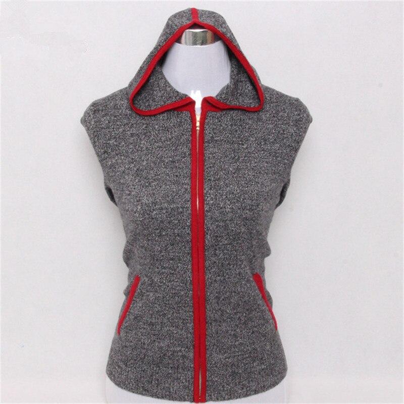 Женский трикотажный свитер с капюшоном, большой размер, из натурального меха козы, темно серый, S/5XL