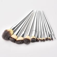 GUJHUI 12pcs Pro Makeup Brushes Set Hot Make Up Tools Foundation Powder Eyeshadow Eyeliner Lip Blusher Beauty