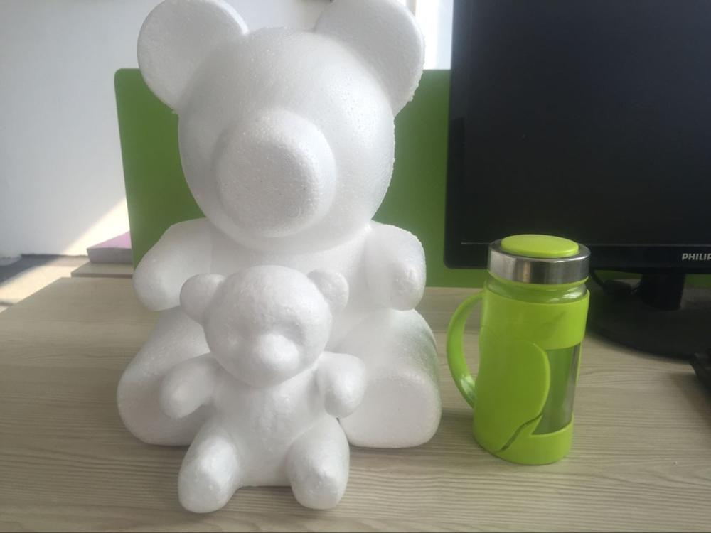 1pcs 33cm Foam Model Polystyrene Styrofoam Teddy Rose Bear White Craft Balls For DIY Christmas Party Decoration Supplies Gifts