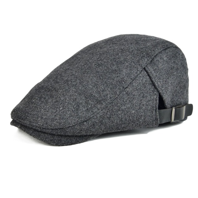 7450446cfa2 VOBOOM Woolen Tweed Flat Cap Black Golf Caps Classic Beret Adjustable Dad Boina  Female Gatsby Sun