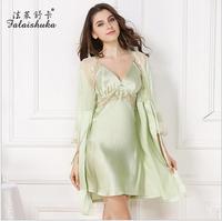 Женщины одеяние платье комплекты 2019 шелк наряд для подружки невесты шелковые свадебные халаты Большие размеры женский Шелковый ночь пижам