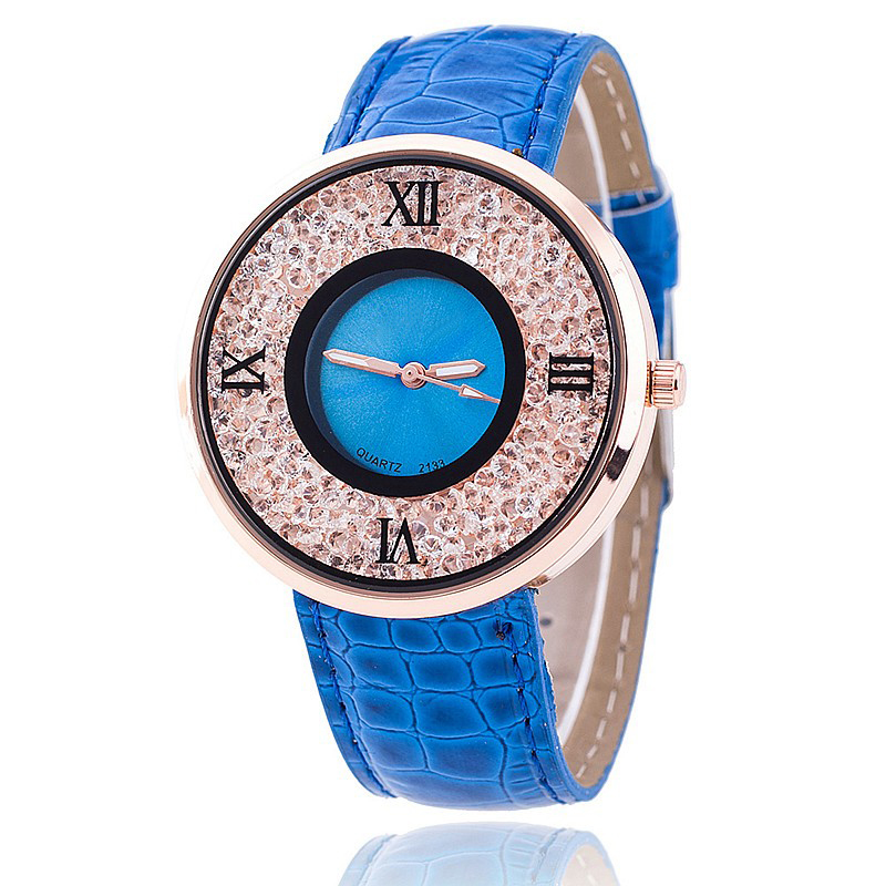 Vansvar Brand Fashion Women Rhinestone Watches Luxury Leather Women Dress Watch Casual Quartz Watches Relogio Feminino 613 1
