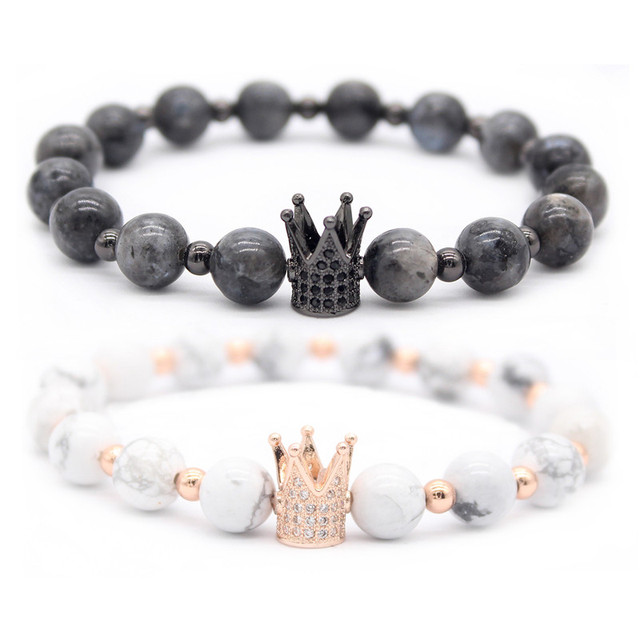 644bb30f30 Poshfeel His And Hers Couple Bracelets Distance Jewelry Cz Crown King Charm  Stone Bracelet for Lovers Gift MBR180001
