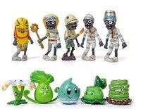 10PCS Lot 4 8Cm Plastic Plants Vs Zombies 2 PVC Toys Figures Decoration Collection Plants Zombies