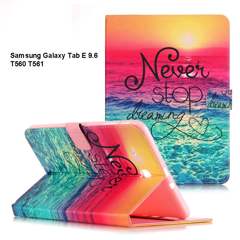 For Samsung Galaxy Tab E 9.6 T560 SM-T560 T561 Case PU Leather Cover for Galaxy Tab E t560 Protective Cases Tablet Accessories аксессуар чехол samsung galaxy tab a 7 sm t285 sm t280 it baggage мультистенд black itssgta74 1